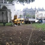 Setting up a static line from a trailer pump in London