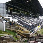 Schwing 34m Reach Concrete Boom Pump in operation at Fulham FC