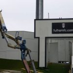 Concrete pumps working at Fulham FC