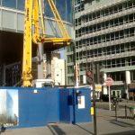 Schwing 24 X boom pump working in East London