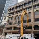 Schwing 24 X boom pump working at the Walkie Talkie building in London