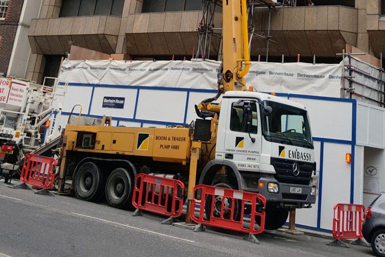 SCHWING 24 X: 24m Reach Concrete Boom Pump Hire | Embassy Concrete