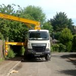 Sermac 28m concrete boom pump at work in Reigate