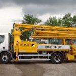 Sermac 28m concrete boom pump side view
