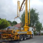 Sermac 36m concrete boom pump at work — ICF pour