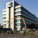 Sermac 36m concrete boom pump working at Sega HQ