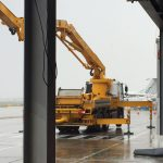 Sermac 36m concrete boom working at London City Airport