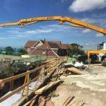 Sermac 36m concrete boom pump at work in Brighton