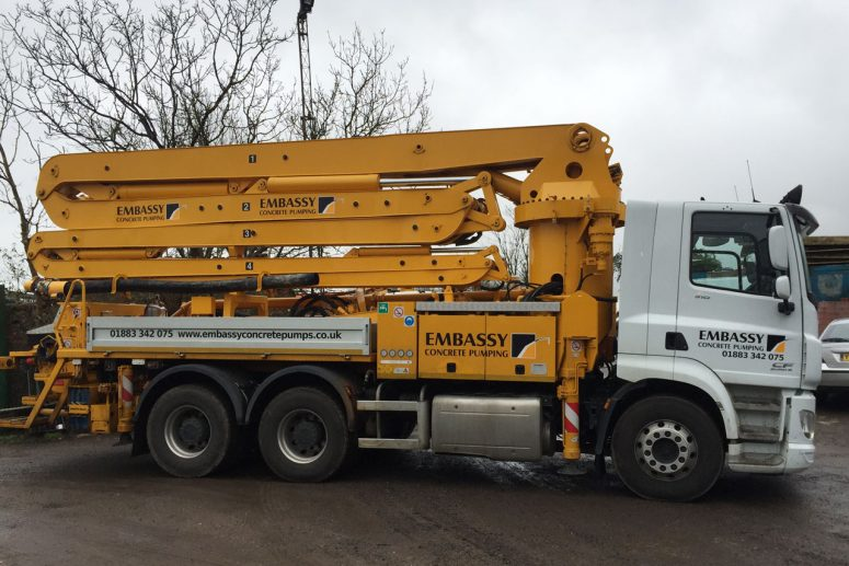 Sermac 5Z36: 36m Reach Concrete Boom Pump Hire | Embassy