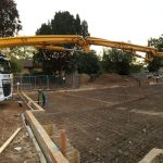 Sermac 36m concrete boom pump working at a care home
