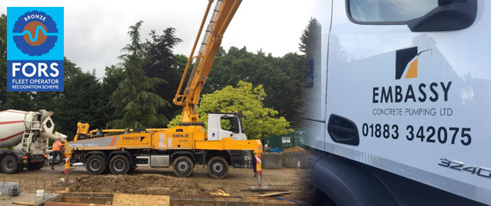 Embassy Concrete Pumps FORS accreditation montage