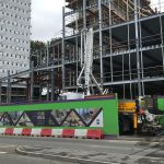 Redhill, Surrey residential development concrete boom pumping