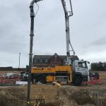Schwing 20m boom pump, Worthing, Sussex