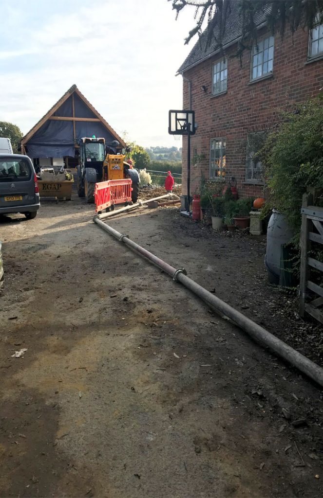 200m static concrete pump pipeline into property