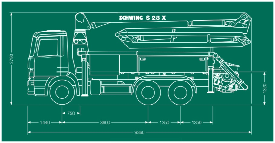 schwing s 28 x dimensions