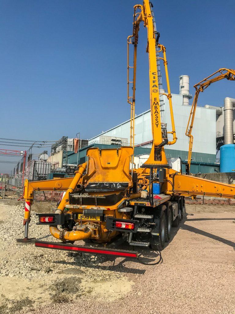 Damhead Creek concrete pour ASC setup