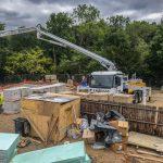 Schwing 28m concrete pump farnham surrey