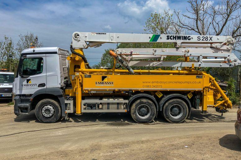 SCHWING S 28 X Concrete Boom Pump Hire