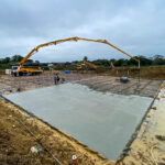 CIFA 42m pumping concrete in Hickstead, Sussex